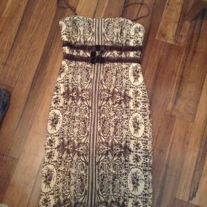 Tracy Reese wool party dress prom size 2 print